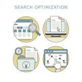 Concepto de la optimización de la búsqueda stock de ilustración