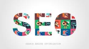 Concepto de la optimización del Search Engine de Seo Imágenes de archivo libres de regalías