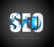 Concepto de la optimización del Search Engine de Seo Fotos de archivo