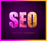 Concepto de la optimización del Search Engine de Seo Imagen de archivo libre de regalías