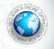 Concepto de la optimización del Search Engine de Seo Imagenes de archivo