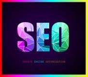 Concepto de la optimización del Search Engine de Seo ilustración del vector