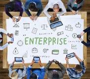 Concepto de la organización de la corporación de Enterprise Company imagenes de archivo