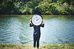 Concepto de la organización del horario de la gestión que mide el tiempo del tiempo Foto de archivo libre de regalías