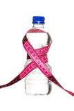 Concepto de la pérdida de peso del agua de botella Foto de archivo libre de regalías