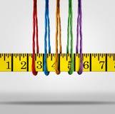 Concepto de la pérdida de peso de la ayuda de la dieta Fotos de archivo libres de regalías