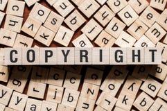 Concepto de la palabra de Copyright imagen de archivo