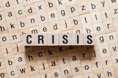 Concepto de la palabra de la crisis fotos de archivo libres de regalías