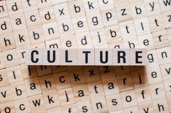 Concepto de la palabra de la cultura imagen de archivo libre de regalías