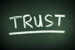 Concepto de la palabra de la confianza Imagen de archivo libre de regalías
