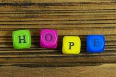 Concepto de la palabra de la esperanza Fotografía de archivo libre de regalías