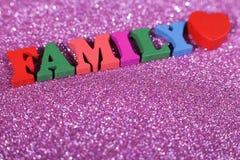 Concepto de la palabra de la familia imágenes de archivo libres de regalías