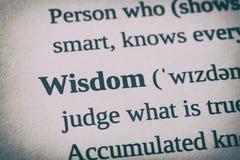 Concepto de la palabra de la sabiduría imágenes de archivo libres de regalías