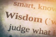 Concepto de la palabra de la sabiduría fotos de archivo