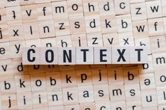 Concepto de la palabra del contexto foto de archivo