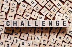 Concepto de la palabra del desaf?o imagen de archivo