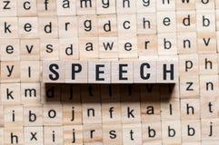 Concepto de la palabra del discurso imagenes de archivo
