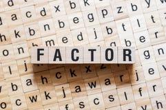 Concepto de la palabra del factor imagen de archivo libre de regalías