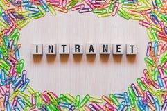Concepto de la palabra del Intranet imágenes de archivo libres de regalías