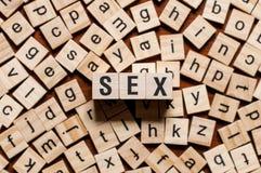 Concepto de la palabra del sexo foto de archivo libre de regalías