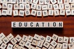 Concepto de la palabra de la educación fotos de archivo libres de regalías