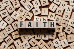 Concepto de la palabra de la fe fotos de archivo libres de regalías