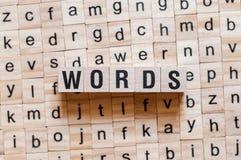 Concepto de la palabra de las palabras imágenes de archivo libres de regalías