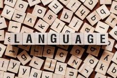Concepto de la palabra de la lengua foto de archivo