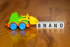 Concepto de la palabra de la marca fotos de archivo libres de regalías