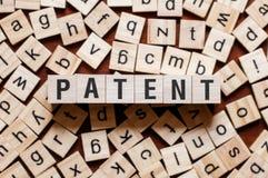 Concepto de la palabra de la patente fotos de archivo