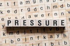 Concepto de la palabra de la presión fotos de archivo