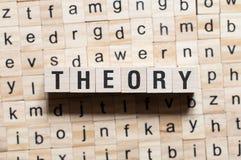 Concepto de la palabra de la teoría imagen de archivo libre de regalías