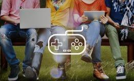 Concepto de la palanca de mando de la tecnología de Control Leisure Fun del regulador del juego Imagen de archivo