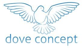 Concepto de la paloma Imágenes de archivo libres de regalías