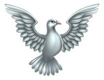Concepto de la paloma del blanco Imagen de archivo libre de regalías