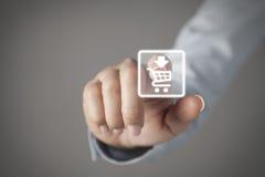 Concepto de la pantalla táctil Fotos de archivo libres de regalías