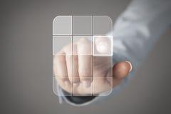 Concepto de la pantalla táctil Imágenes de archivo libres de regalías