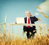 Concepto de la partida de Relaxation Freedom Happiness del hombre de negocios Imágenes de archivo libres de regalías