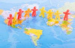 Concepto de la paz de la gente del mundo stock de ilustración