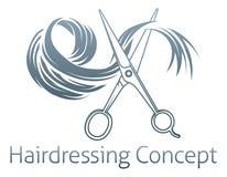 Concepto de la peluquería Imagenes de archivo