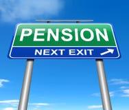 Concepto de la pensión. Foto de archivo libre de regalías