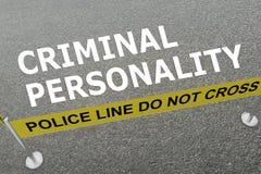 Concepto de la PERSONALIDAD CRIMINAL libre illustration