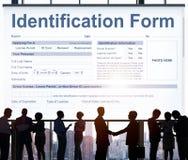 Concepto de la personalidad de la individualidad del nombre de la forma de la identificación fotografía de archivo