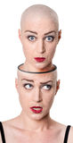 Concepto de la personalidad múltiple Imagenes de archivo