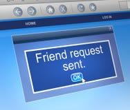 Concepto de la petición del amigo. Foto de archivo libre de regalías