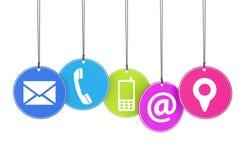 Concepto de la página del contacto del Web site Foto de archivo libre de regalías