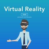 Concepto de la página web de la realidad virtual del uso del negocio Fotos de archivo libres de regalías