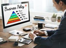 Concepto de la pirámide de la acción de la política de negocio Fotos de archivo