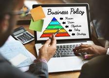 Concepto de la pirámide de la acción de la política de negocio Imagen de archivo libre de regalías