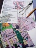 Concepto de la planificación urbana Imagen de archivo